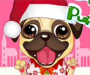 Cute Christmas Puppy