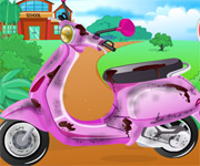 Barbie School Bike Cleaning